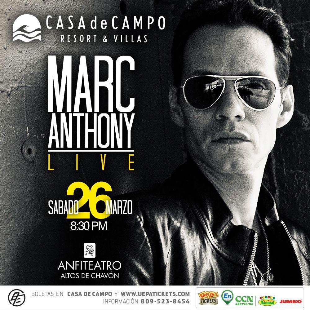 Концерт MARC ANTONY LIVE / 26.03.2016 в Casa de Campo