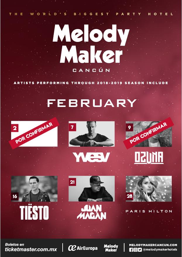 Музыкальные события в Melody Maker Cancun