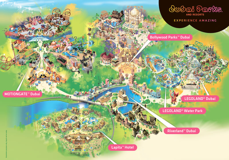 Dubai Parks and Resorts map