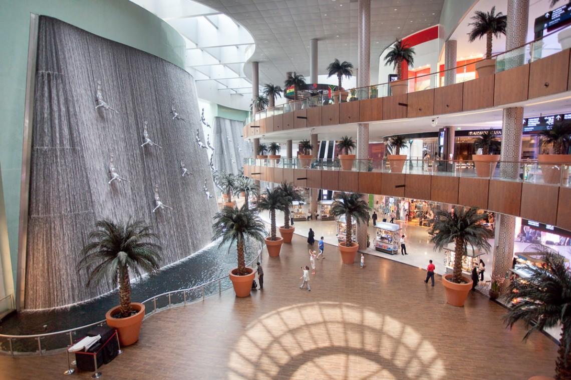 The Dubai Mall at Water Fall