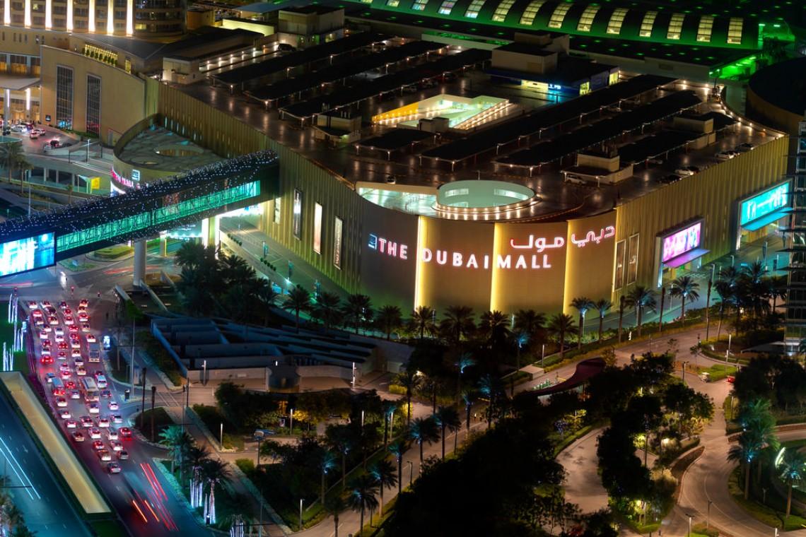 The Dubai Mall external night