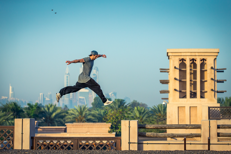 Захватывающий паркур на крышах Madinat Jumeirah!