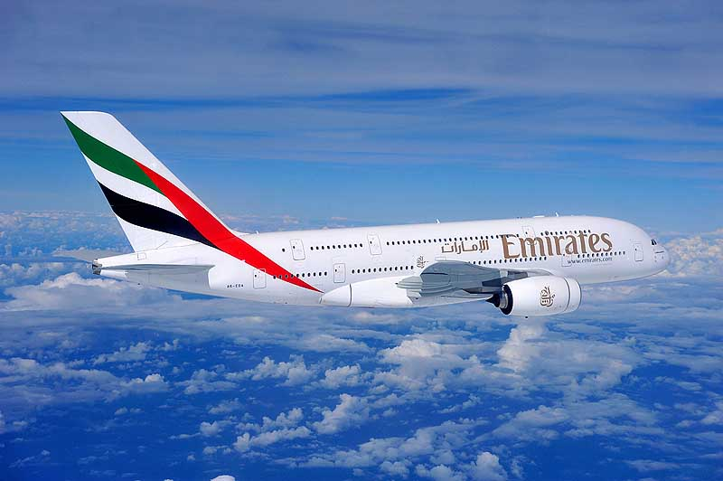 С начала августа рейсы а/к Emirates будут выполняться на 2 лайнерах А380!